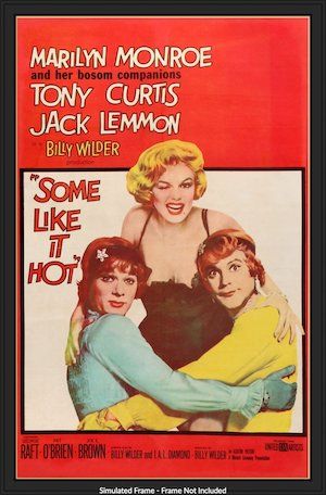 some like it hot 1959 linen original film art f 2000x