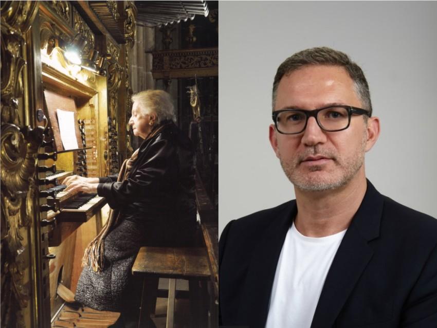 La organista Montserrat Torrent y el compositorGabriel Erkoreka, Premio Nacional de Música 2021