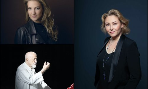 Karine Deshayes, Pier Luigi Pizzi y Marina Monzó en el Festival Rossini de Pesaro 2021