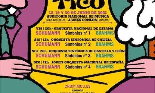 James Conlon encabeza la VI edición de '¡Sólo Música!', con cuatro orquestas y las sinfonías de Schumann y Brahms