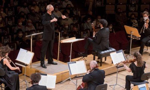 Carlos Miguel Prieto y Pablo Sáinz-Villegas con la Orquesta Nacional de España